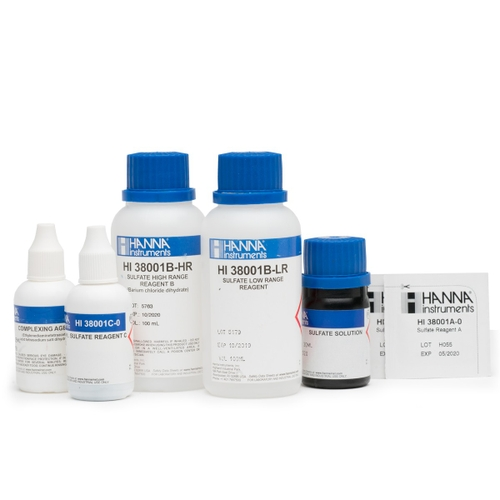 HI38001-10 Sulfate (Low and High Range) Test Kit Replacement Reagents (100 tests)
