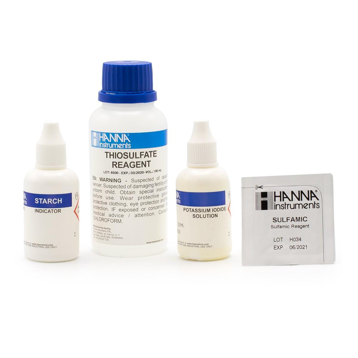 Total Chlorine High Range Test Kit Replacement Reagents (100 tests) - HI38022-100
