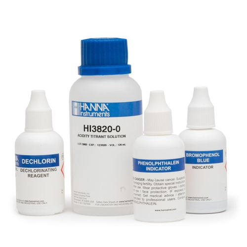 Acidity Chemical Test Kit Replacement Reagents (100 tests) - HI3820-100
