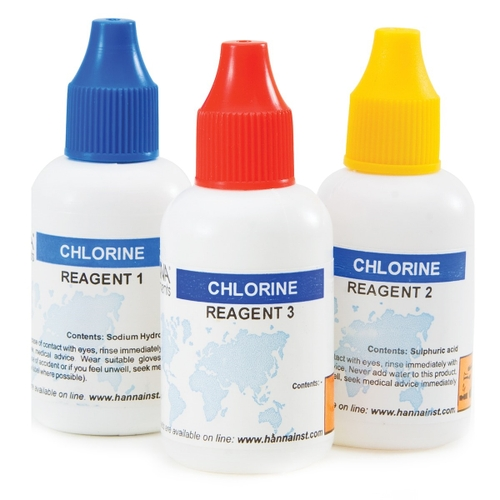 Total Chlorine Test Kit Replacement Reagents (50 tests) - HI3831T-050