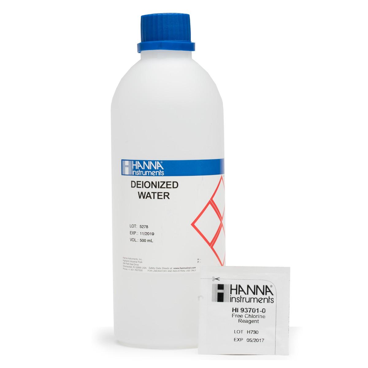 Free Chlorine (Medium Range) Test Kit Replacement Reagents (100 tests) - HI3875-100
