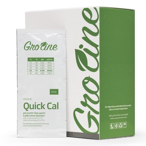 HI50036P Quick Calibration Solution for GroLine pH and EC Meters (25 x 20 mL sachets)