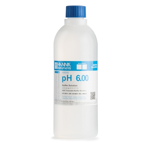 HI5006 pH 6.00 Technical Calibration Buffer (500 mL)