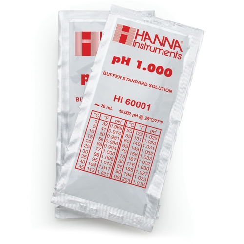 HI60001-02 pH 1.000 Millesimal Buffer Solution (25 x 20 mL) Sachets