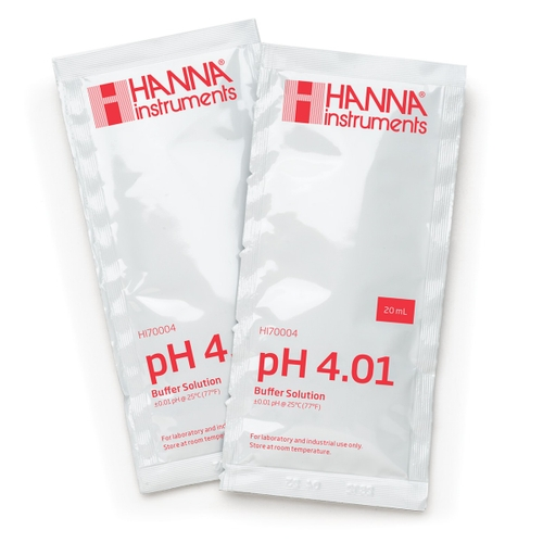 HI70004C pH 4.01 Calibration Buffer (25 x 20 mL) Sachets
