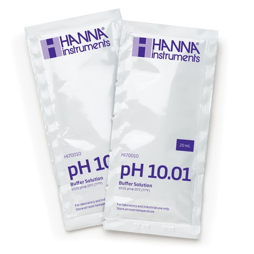 HI70010C pH 10.01 Calibration Buffer (25 x 20 mL) Sachets