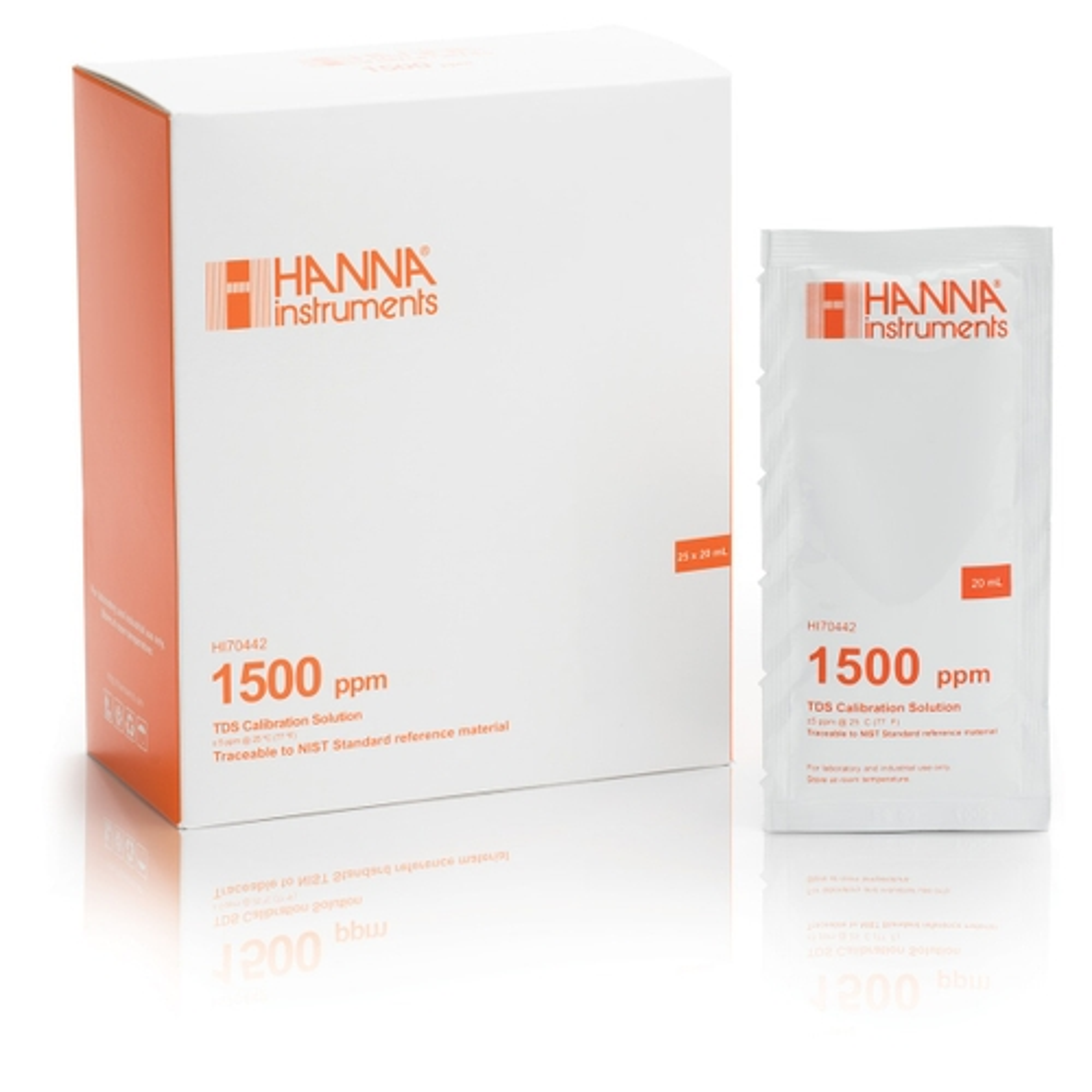 HI70442P 1500 mg/L (ppm) TDS (25 x 20 mL) sachets