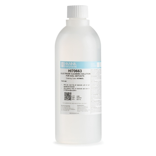 HI70663L Cleaning Solution for Soil Deposits (500 mL)