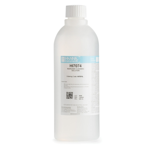HI7074L Electrode Cleaning Solution for Inorganic Substances (500 mL)
