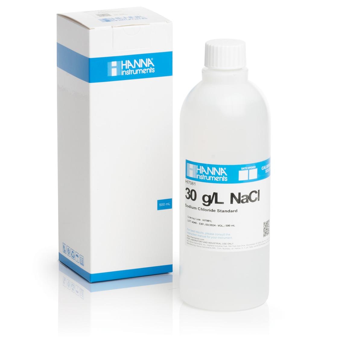 HI7081L 30 g/L NaCl Standard Solution (500 mL)