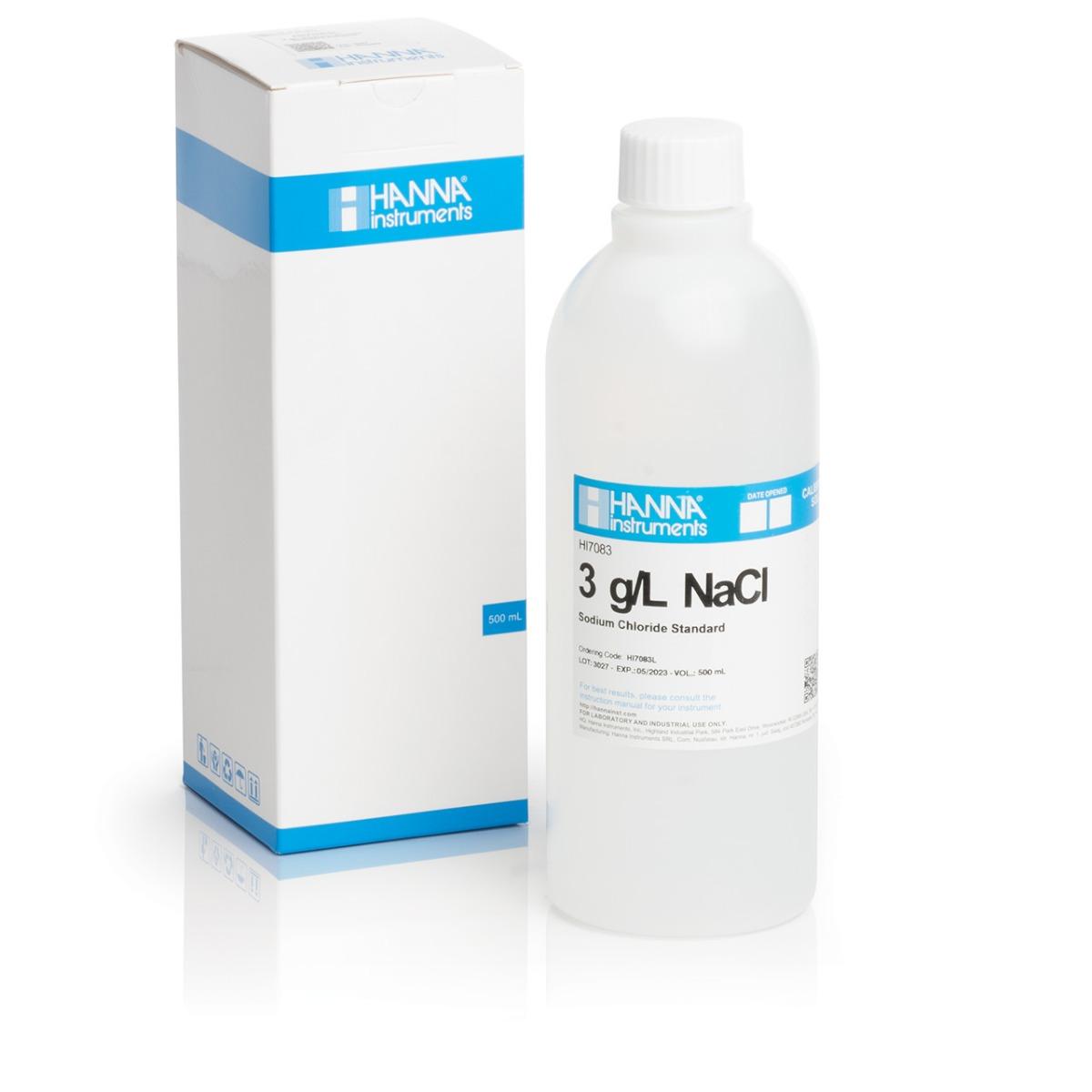 HI7083L 3.0 g/L NaCl Standard Solution (500 mL)