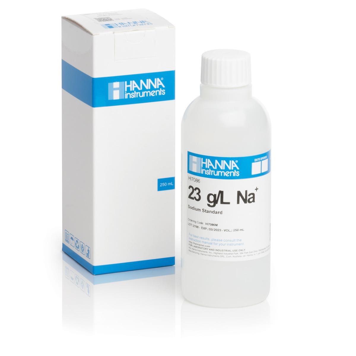 HI7086M 23 g/L Na+ Standard Solution (230 mL Bottle)