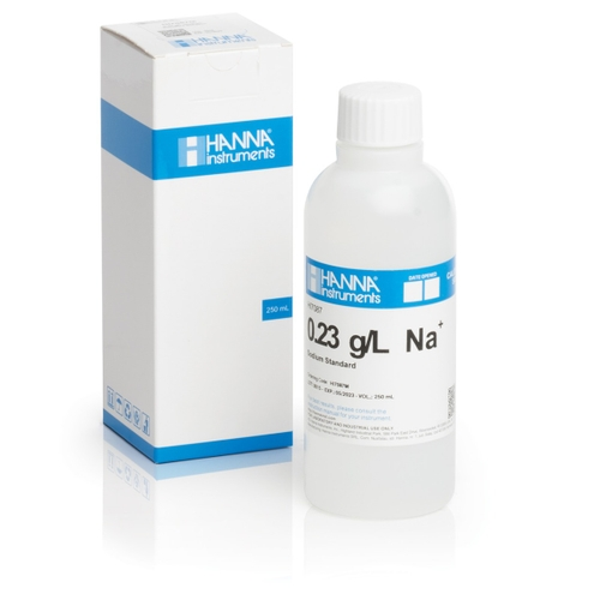 HI7087M 0.23 g/L Na+ Standard Solution (230 mL Bottle)