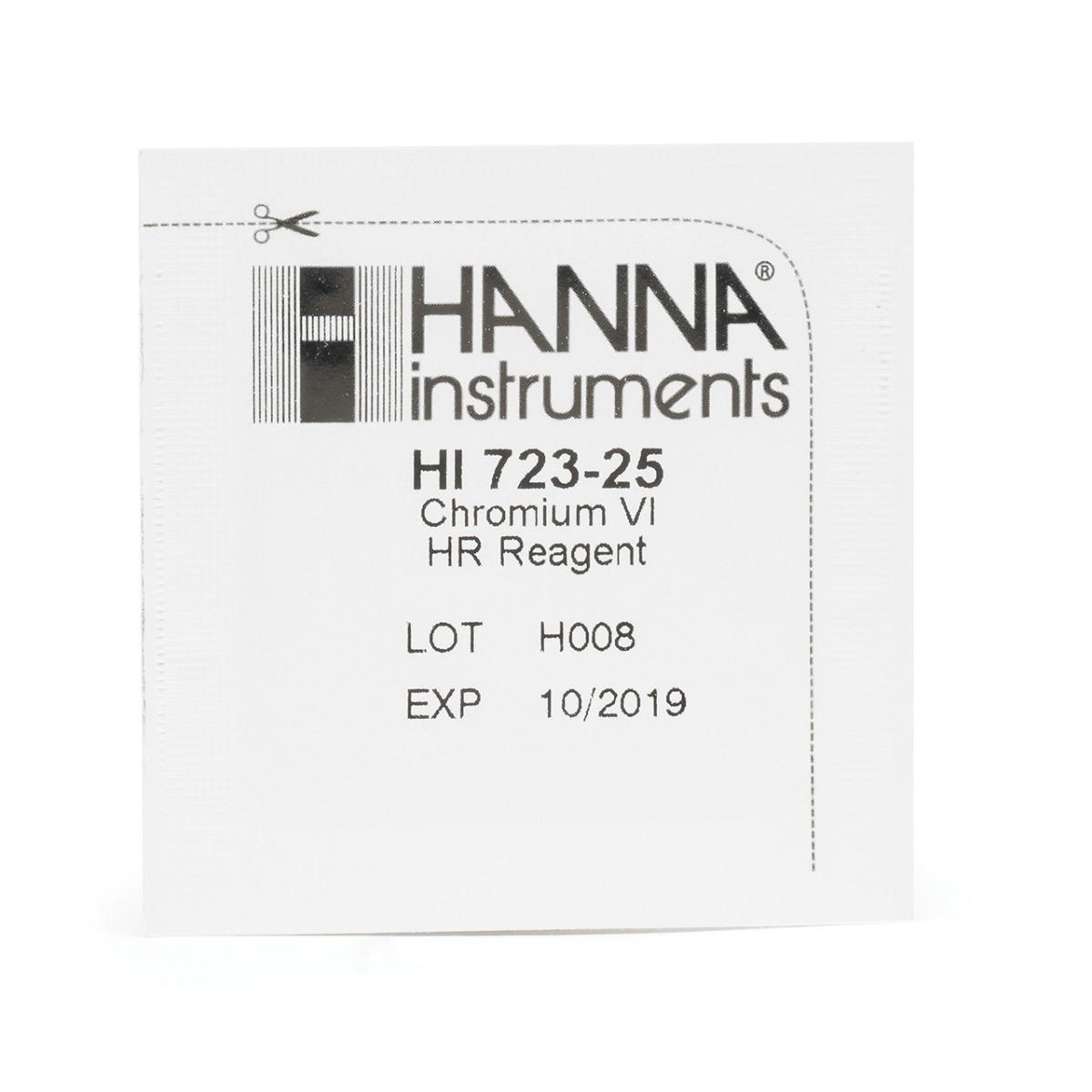 HI723-25 Chromium VI High Range Checker® HC Reagents (25 tests)