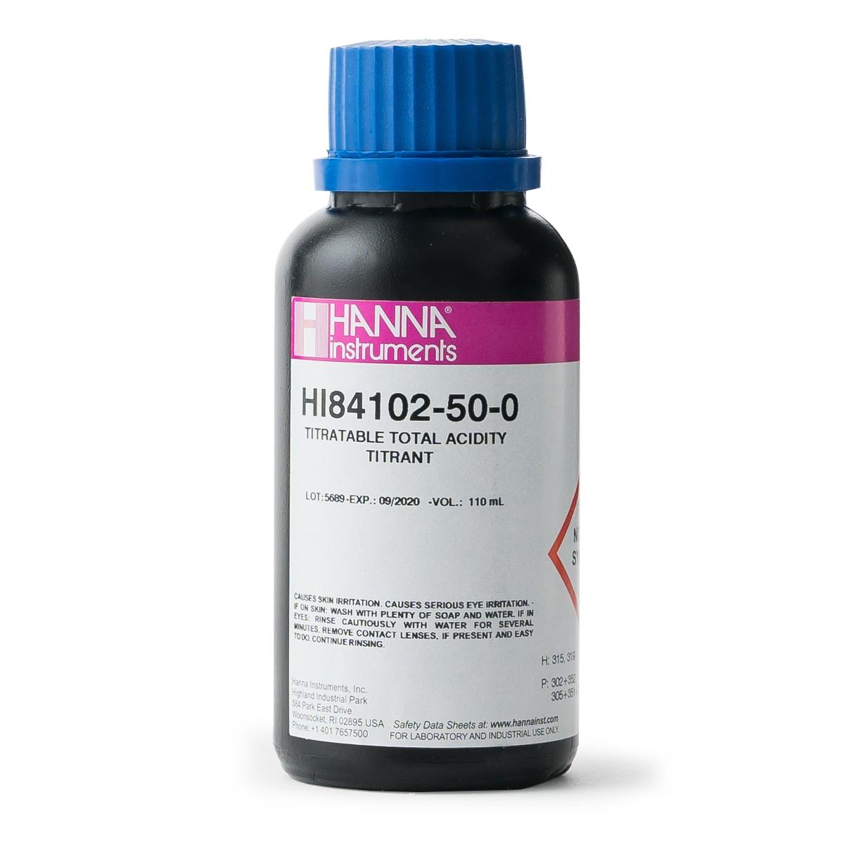 Titrant for Titratable Acidity in Wine Mini Titrator - HI84102-50