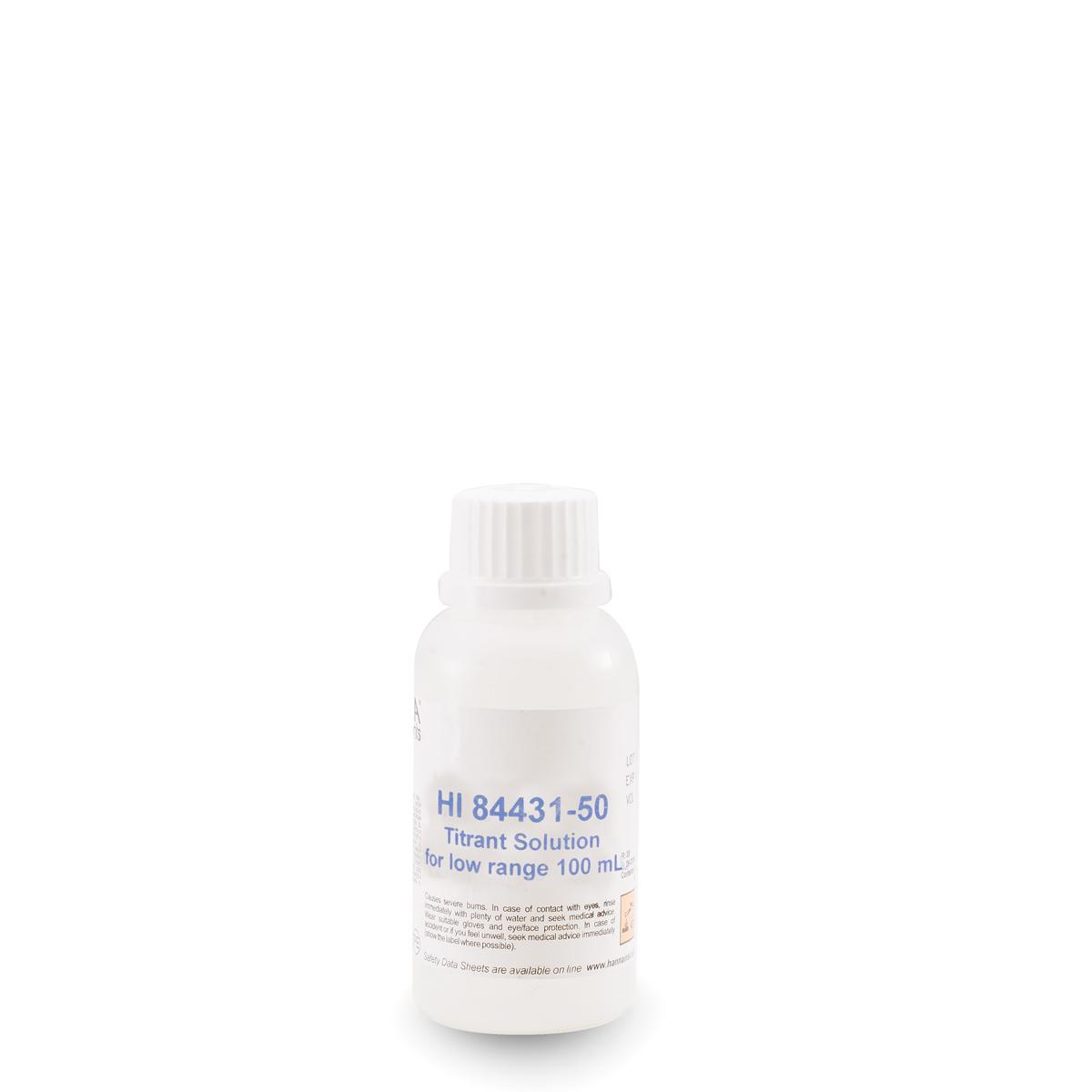Low Range Titrant for Titratable Alkalinity in Water Mini Titrator - HI84431-50