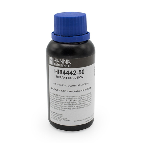 Titrant for Titratable Alkalinity in Water Mini Titrator - HI84442-50
