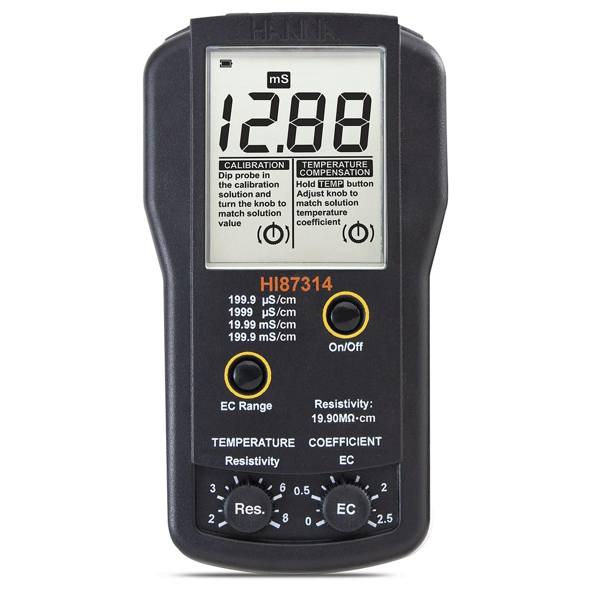 HI87314 EC and Resistivity Portable Meter