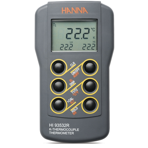 HI93532R Dual Input K-Type Thermocouple Thermometer