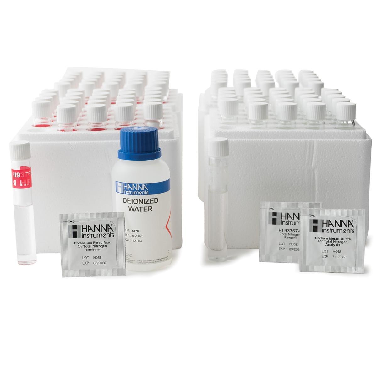 Total Nitrogen High Range Reagents (50 tests) - HI93767B-50