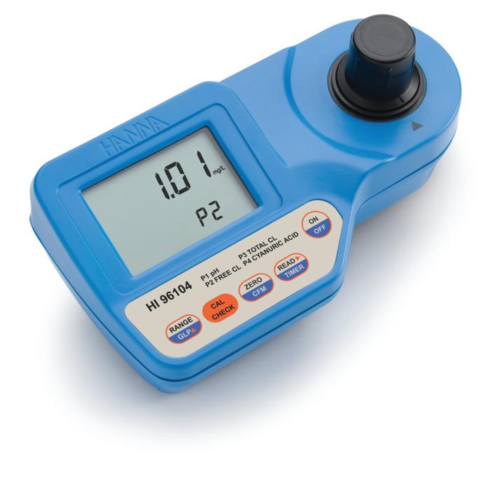 Fotometro portatile per l'analisi di pH, acido cianurico, cloro libero e totale - HI96104