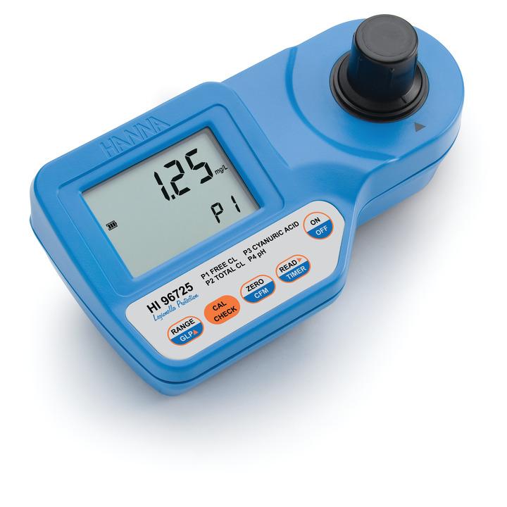 Fotometro portatile per l'analisi di cloro, acido cianurico e pH - HI96725