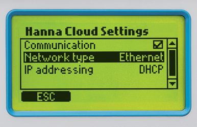 Hanna Cloud options
