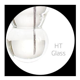 high temperature glass