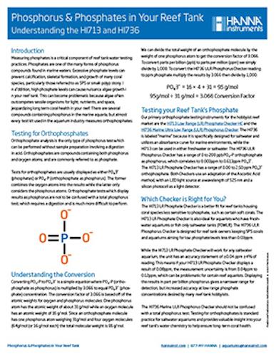 Phosphorus and Phosphates in your Reef Tank